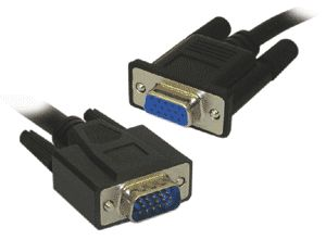 10 Metre SVGA Monitor Extension Cable 15 Pin