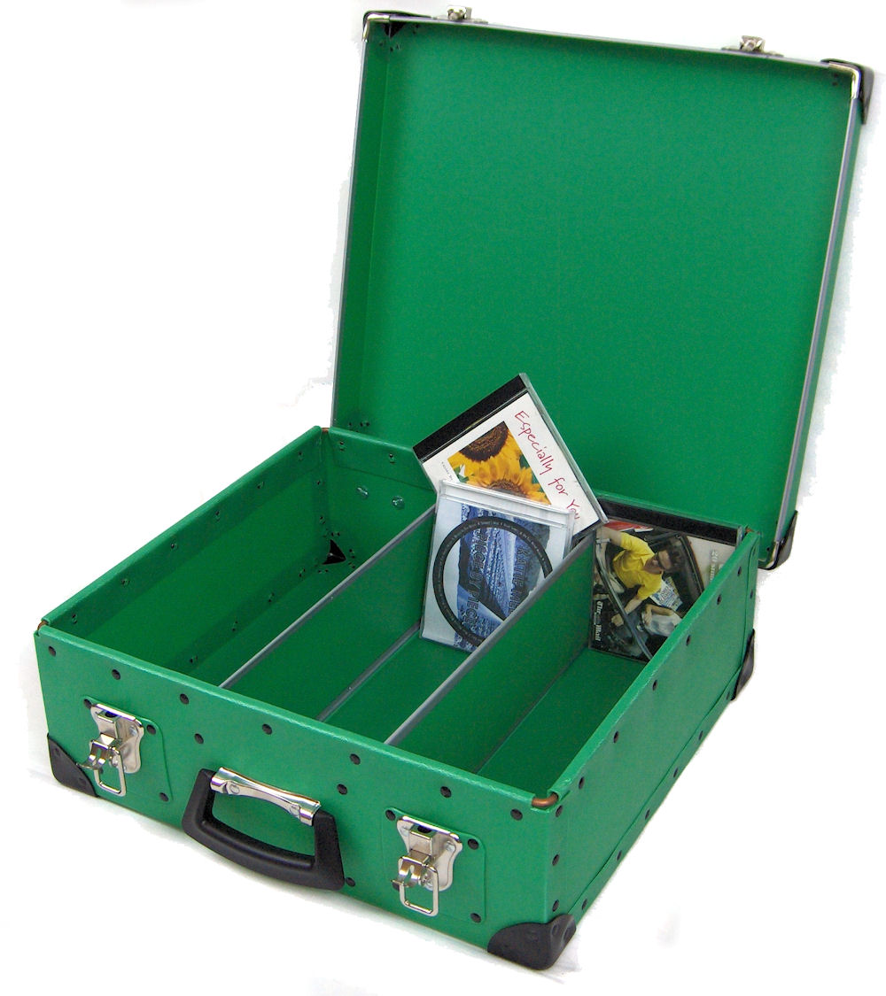100 Capacity Jewel Case Storage Case - Green