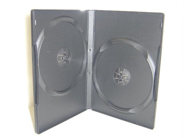 100 Standard Double Black DVD Case