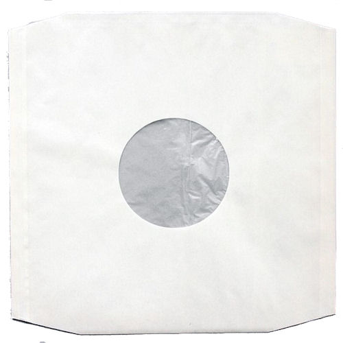 12 Lp White Polylined Paper Inner Sleeves Pack Of 20