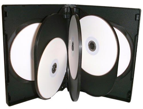 8 Way Black Standard DVD Case ( Pack of 5 )