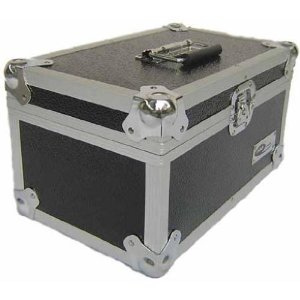 "Aluminium 200 Capacity 7"" Single Record Case Black Design"