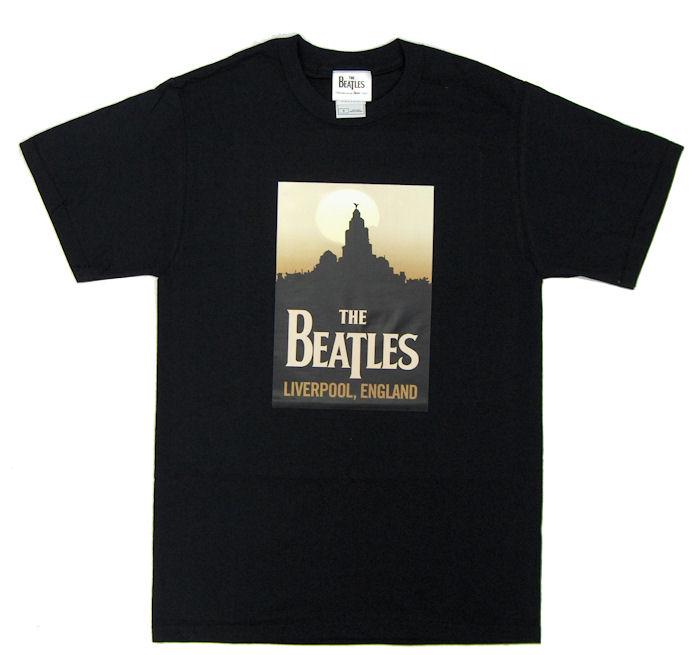 Beatles Liverpool Mens Black T Shirt