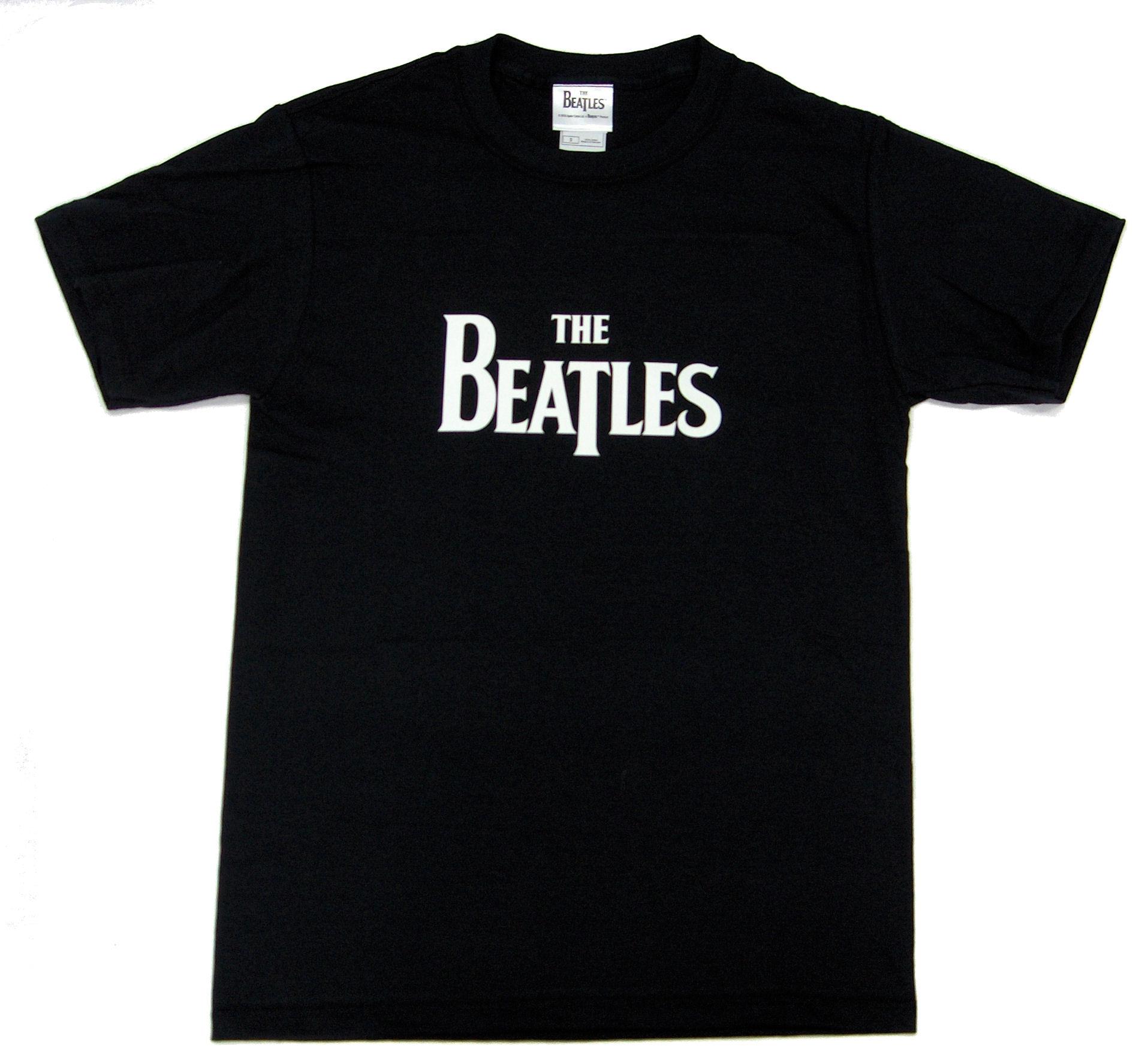 Beatles Logo Mens Black T Shirt