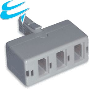 BT 3 Way Triple Telephone Splitter Plug in Adapter