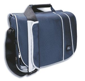 "Case Gear: Messenger Traveller Shoulder Pack 14"" Widescreen Notebook Case Dark Blue\Light B"