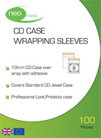 CD Jewel Case Wrapping Sleeves 100 Pack
