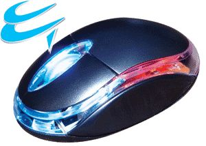 Computer Gear: 3 Button LED Optical Scroll Wheel Mouse USB