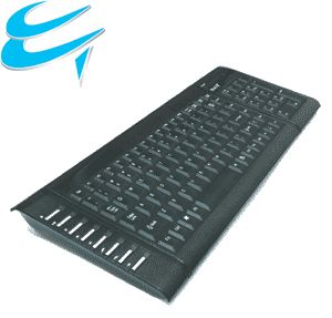 Computer Gear: Black Multimedia USB-PS/2 COMBO keyboard + Slim design