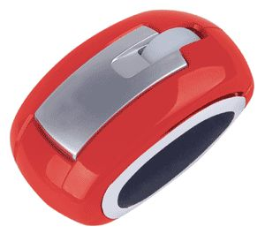 Computer Gear: Red 3 Button Optical Scroll Wheel Mouse USB & PS/2