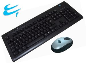 Computer Gear: Wireless 2.4Ghz Keyboard & Mouse - Mini USB Receiver