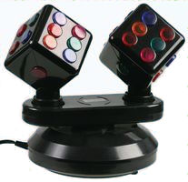 "Double 3"" Rotating Dice Disco Party Light"