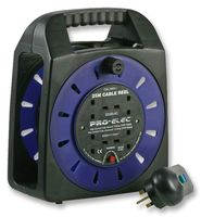 Pro Elec Four Socket Handbag Reel 25 Metre with RCD Protection