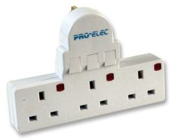 PRO ELEC - Individual Switched 3 Way Adapter