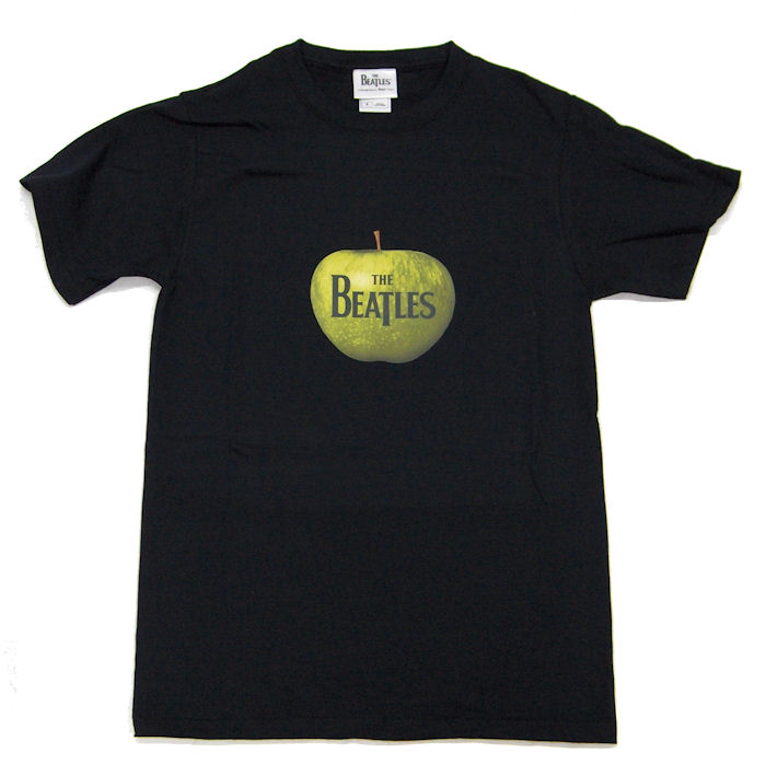 The Beatles Apple Logo Design Mens Black T Shirt