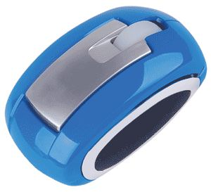 Computer Gear: Blue 3 Button Optical Scroll Wheel Mouse USB & PS/2