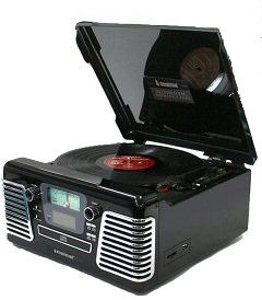 Steepletone USB Roxy 3 1960's Style Turntable & CD Music System with MP3 Recording